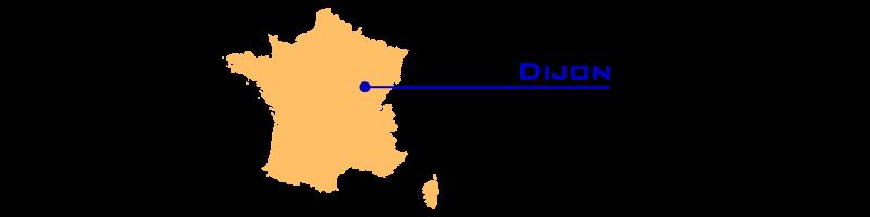 Cartes ferroviaires de la France   Dijon