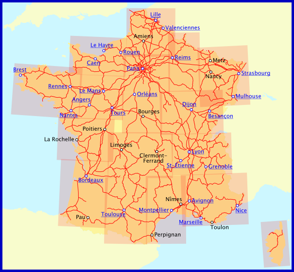Map Of Trains In France.Railway Maps Of France