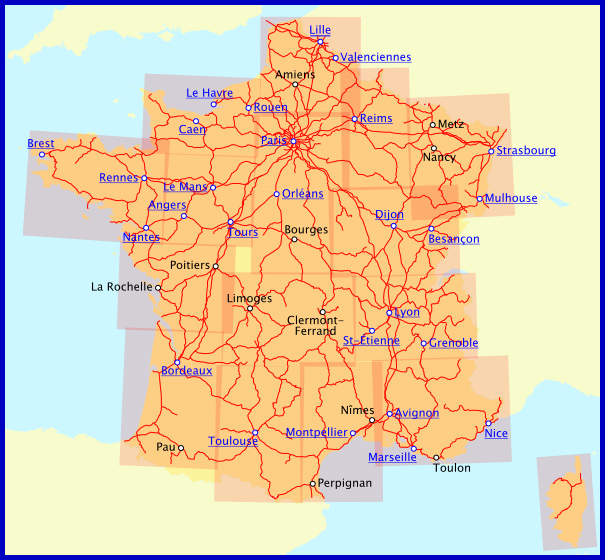 Railway Maps of France