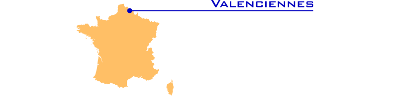 Cartes ferroviaires de la France | Valenciennes